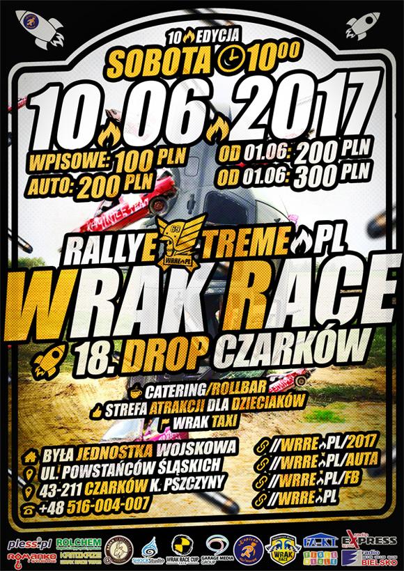 Wrak Race Rally Extreme - 10.06.2017 - Radostowice k.Pszczyny Oficjalny Plakat