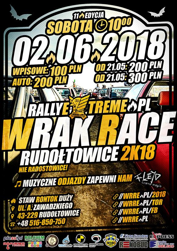 Wrak Race Rally Extreme - 02.06.2018 - Rudołtowice k.Pszczyny Oficjalny Plakat