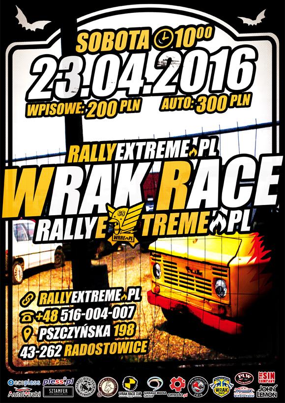 Wrak Race Rally Extreme - 23.04.2016 - Radostowice k.Pszczyny Oficjalny Plakat